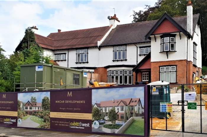 Woodcote Valley Road - Construction Begins