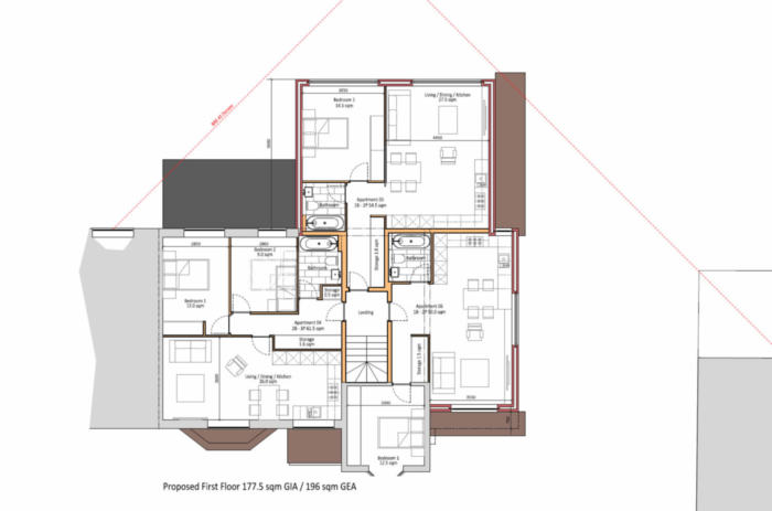 Woodcote Valley Road - Proposed First Floor Plans