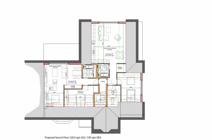 Woodcote Valley Road - Proposed Second Floor Plans